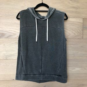 Betsy Johnson Sleeveless Hooded Sweater